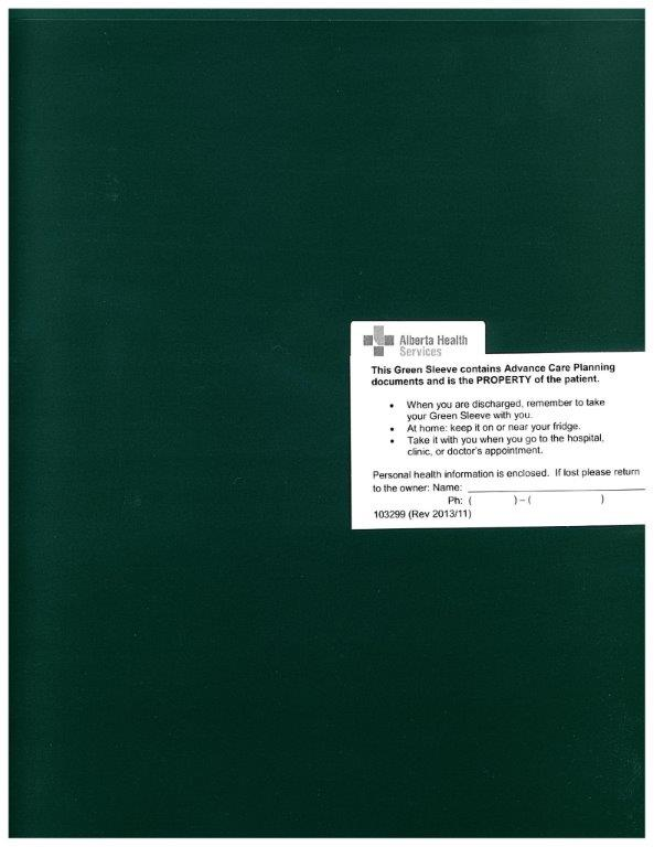 Picture of a Green Sleeve