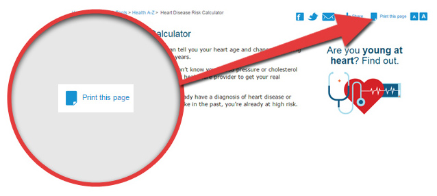 Heart Disease Risk Calculator - Warning