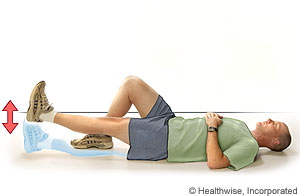 Picture of how to do straight-leg raise exercise