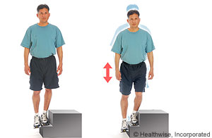 Picture of how to do lateral step-up exercise