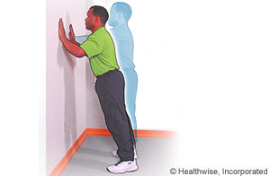 Scapular exercise (wall push-ups)
