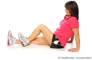 Picture of how to do seated hamstring exercise