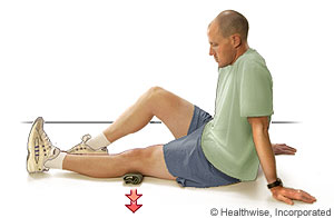 Picture showing quadriceps exercise