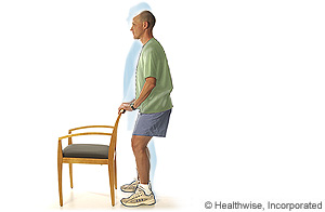 Picture of shallow standing knee bends
