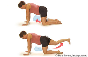 Photo of leg lift crawl exercise