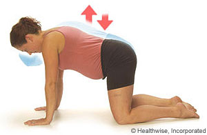 Picture of pelvic rocking exercise