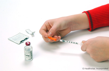 Preparing an insulin shot