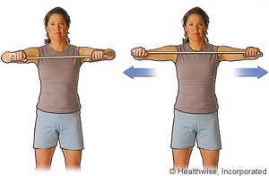 Photo of the chest-level pull exercise