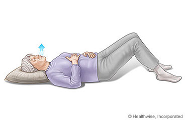 Picture of a floor breathing technique for COPD