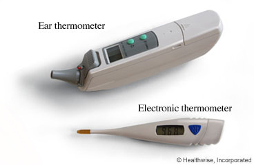 Electronic and ear thermometers