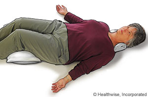 Picture of relax-and-rest position to ease back fatigue