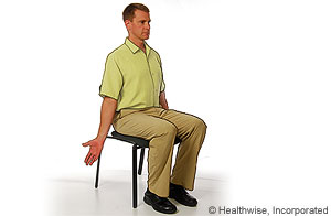 Picture of chest expansion stretch for ankylosing spondylitis