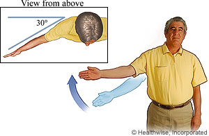 Arm-raise-to-the-side exercise