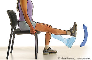 Photo of a quadricep strengthening exercise (knee extension)