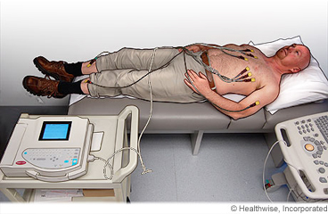 Man having an EKG
