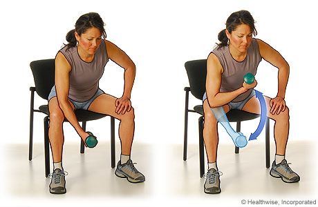 muscle strengthening with free weights