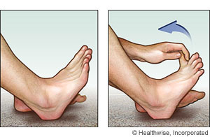 Picture of toe stretch