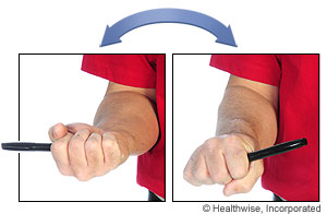 Picture of how to do pronation and supination exercises