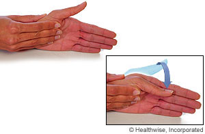 Picture of the thumb MP flexion exercise