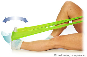 Picture of how to do ankle plantar flexion exercise
