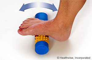 Picture of how to do plantar fascia self-massage