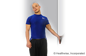 Picture of how to do biceps stretch