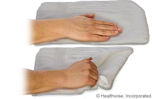 Picture of how to do towel grab exercise