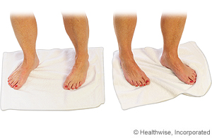 Picture of how to do towel inversion and eversion