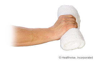 Picture of how to do towel squeeze