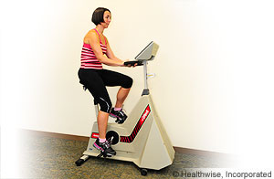 Picture showing stationary exercise bike