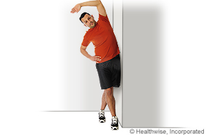 Picture of iliotibial band stretch exercise