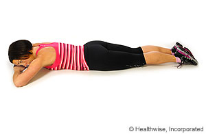 Picture of rest-on-belly exercise