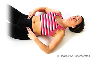 Picture of tummy tuck exercise