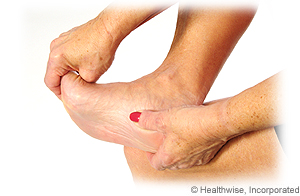 Picture of how to do plantar fascia stretch