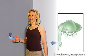 Picture of how to do isometric shoulder external rotation