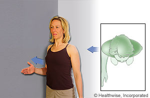 Picture of how to do isometric shoulder abduction