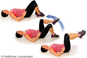 Picture of how to do lower abdominal strengthening