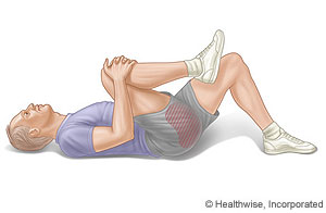 Knee-to-chest exercise